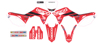 2019 Geico Honda Complete Graphics Kit White - For 17-18 CRF450R