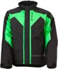 Men's Pivot 3 Insulated Snow Jacket Black/Green Small
