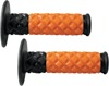 X.7 MX Diamond Pillow Motorcycle Grips Orange/Black
