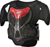 A-5 S Youth Body Armor Black/Red Size Y-S/Y-M
