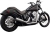 FiftyTwo52 2-in-1 Chrome Full Exhaust - For 07-17 H-D Softail