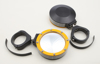"Billet Side Mirrors Round W/Bezel Yellow 2"" (PAIR)"