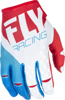 Kinetic MX Riding Gloves Red/White/Blue Sz 13