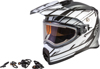 AT-21S Adventure Epic Snow Helmet w/Electric Shield Silver/White/Black Medium