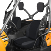 Bucket Seat Cover Black - For 08-17 Kawasaki Teryx