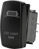 """Led Light Bar"" Lighting Switch - Amber Lighted SPST Rocker"