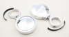 "Billet Side Mirrors Round Polished 2"" (PAIR)"