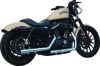 Rip-Rod Chrome Slip-On Exhaust Black Tip - For 04-13 H-D XL Sportster