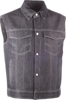 Iron Sights Traditional Collar Denim Vest Black 4X-Large