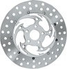 Savage Floating Front Left Brake Rotor 330mm Chrome - For Harley