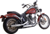 "Loose Cannon Chrome 3"" Slip-On Exhaust - For 07-17 H-D Softail"