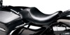 Bare Bones Smooth Vinyl Solo Seat Black Upfront - For 02-07 Harley FLHR