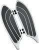 Elite Driver Floorboards Chrome/Black - For 80-19 Harley