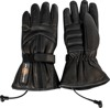 12V Heated Leather Gloves Black Small