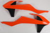 Radiator Shrouds Orange/Black - For 16-18 KTM