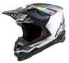 Supertech M8 Contact Motorcycle Helmet Silver Black Small