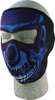 Full Face Mask - Blue Chrome Skull