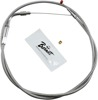 "Stainless Steel Throttle Cable - Replaces 56327-96 on Big Twins w/ 42"" Cable"