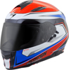 EXO-T510 Full-Face Tarmac Motorcycle Helmet Red/Blue X-Small