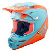 F2 Carbon Rewire Helmet Matte Light Blue/Orange X-Small