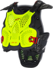 A-4 Blackjack Chest Protector Yellow/Fluorescent Red Xs/S