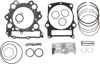 9.9:1 STD Compr. Top End Piston Kit - +.5mm Bore - For 02-08 Grizzly & 05-07 Rhino