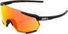 Racetrap Sunglasses Black w/ Red Mirror Lens