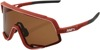 Glendale Sunglasses Bordeaux Orange/Red w/ Bronze Lens
