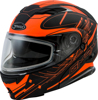 MD-01S MODULAR WIRED SNOW HELMET BLACK/HI-VIS ORANGE - Small