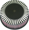"HP Custom Round Air Cleaner 5-7/8"" Notch Black - For 88-16 HD"