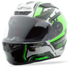 FF-88 Full-Face X-Star Helmet White/Hi-Vis Green X-Large