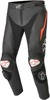 Track v2 Leather Street Motorcycle Pants Black/Red/White US 50