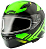 Ff-49 Full-Face Berg Snow Helmet Black/Hi-Vis Green Lg