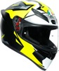 K1 Full Face Street Motorcycle Helmet Multi/Yellow 2X-Large