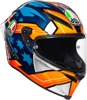Corsa R Full Face Street Helmet Blue/Multi/Orange Large