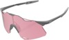 Hypercraft Sunglasses Matte Stone Gray w/ Pink/Coral Lens