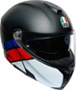 Sport Modular Street Helmet Black/Red/White Medium