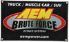 "Banner - Brute Force 30"" X 18"""