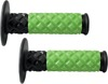 X.7 MX Diamond Pillow Motorcycle Grips Green/Black