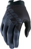 iTrack Gloves - Gray Short Cuff Youth Large