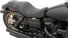 3/4 Basketweave Leather Solo Seat Black Low - For 06-17 Harley Dyna