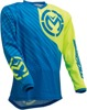 Qualifier Performance Fit Jersey - Blue, Fluorescent Yellow, Yellow 5XL