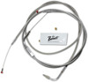 "Stainless Steel Throttle & Idle Cables - Replaces 56328-96 & 56327-96 - 42"" Cables"