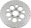 Drilled Polished Front Brake Rotor 292mm Counterbore