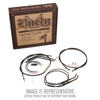 "Extended Black Control Cable Kit 16"" tall bars - 2006 HD Dyna Wide Glide"