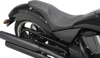 Predator Flame Stitched 2-Up Seat Black Low - For 03-17 Victory