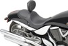 Predator Carbon Fiber Stitched Solo Seat Black Low - For 05-14 Victory Hammer