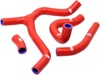 Red Radiator Y-Piece Hose Kit - For 2016 Honda CRF450R