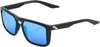 Renshaw Sunglasses Black w/ Blue Mirror Lens