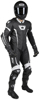 Adrenaline GP Leather One-Piece Race Suit Black/White 2X-Large